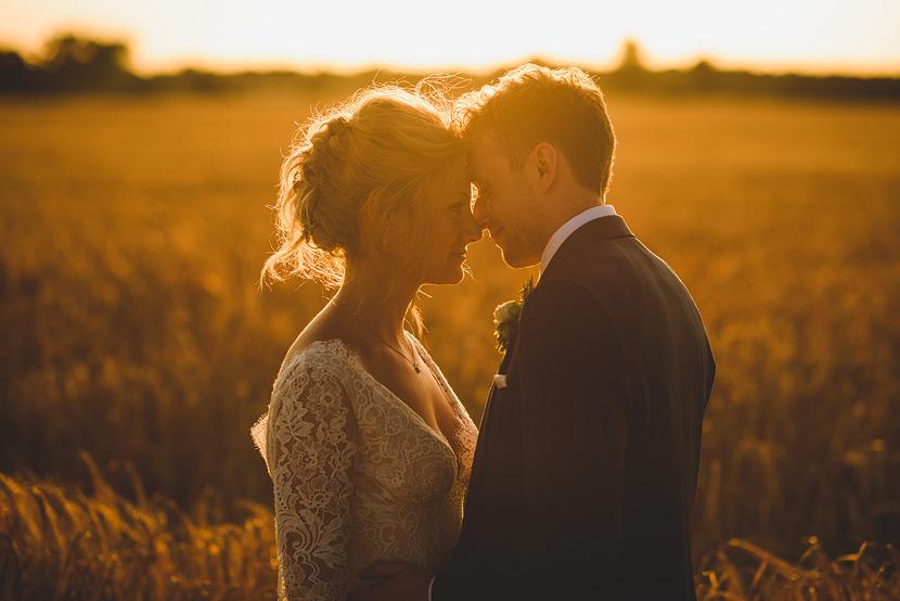 rustic norfolk marquee wedding in a cornfield