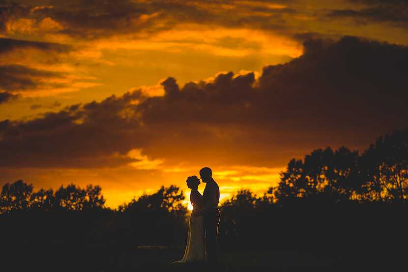 beautiful sunset at alex and alicias wedding, worcester college