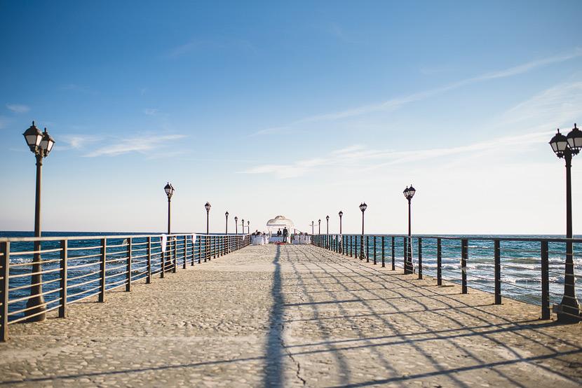 Elias Beach, Limassol, Cyrpus, Wedding Photgraphy on the pier
