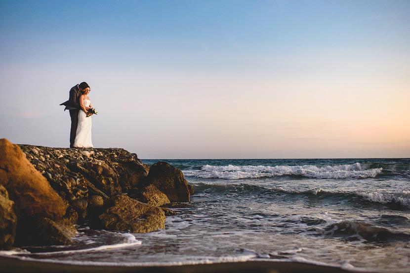 Elias Beach, Limassol, Cyrpus, Wedding Couple at Sunset