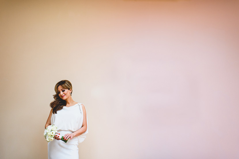 bride in cartshed at southwood hall wedding