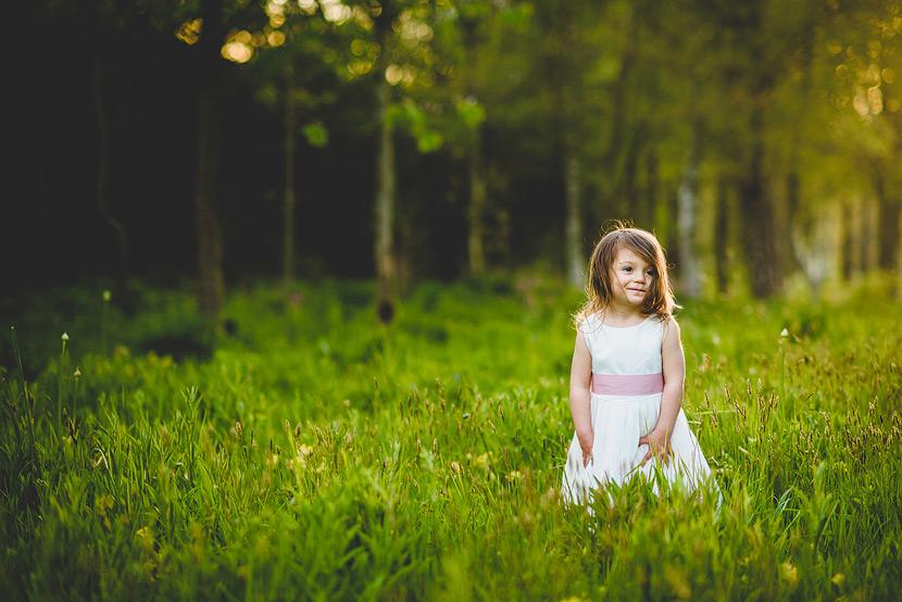 gorgeous chaucer barn norfolk wedding flower girl in flower mead