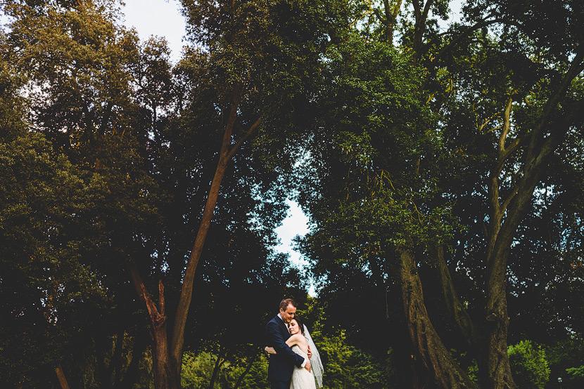 kesgrave hall wedding cuddle in the garden