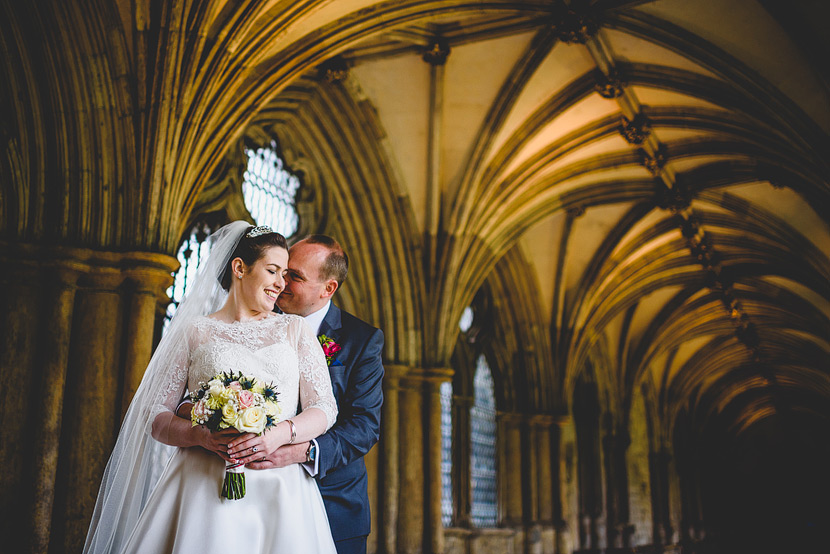 A beautiful wedding at norwich cathedral laura mark cuddle in th