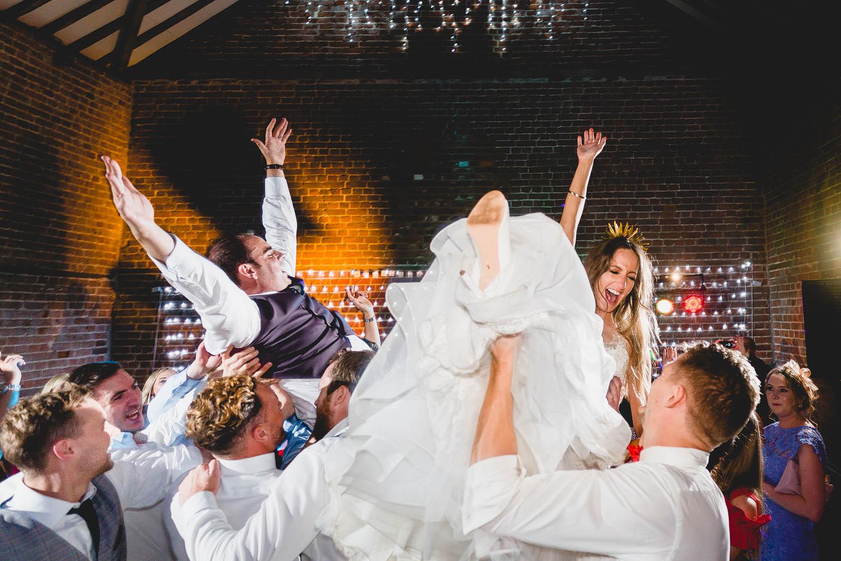 wedding atr octagon barn james and jasmine on an epic dancefloor