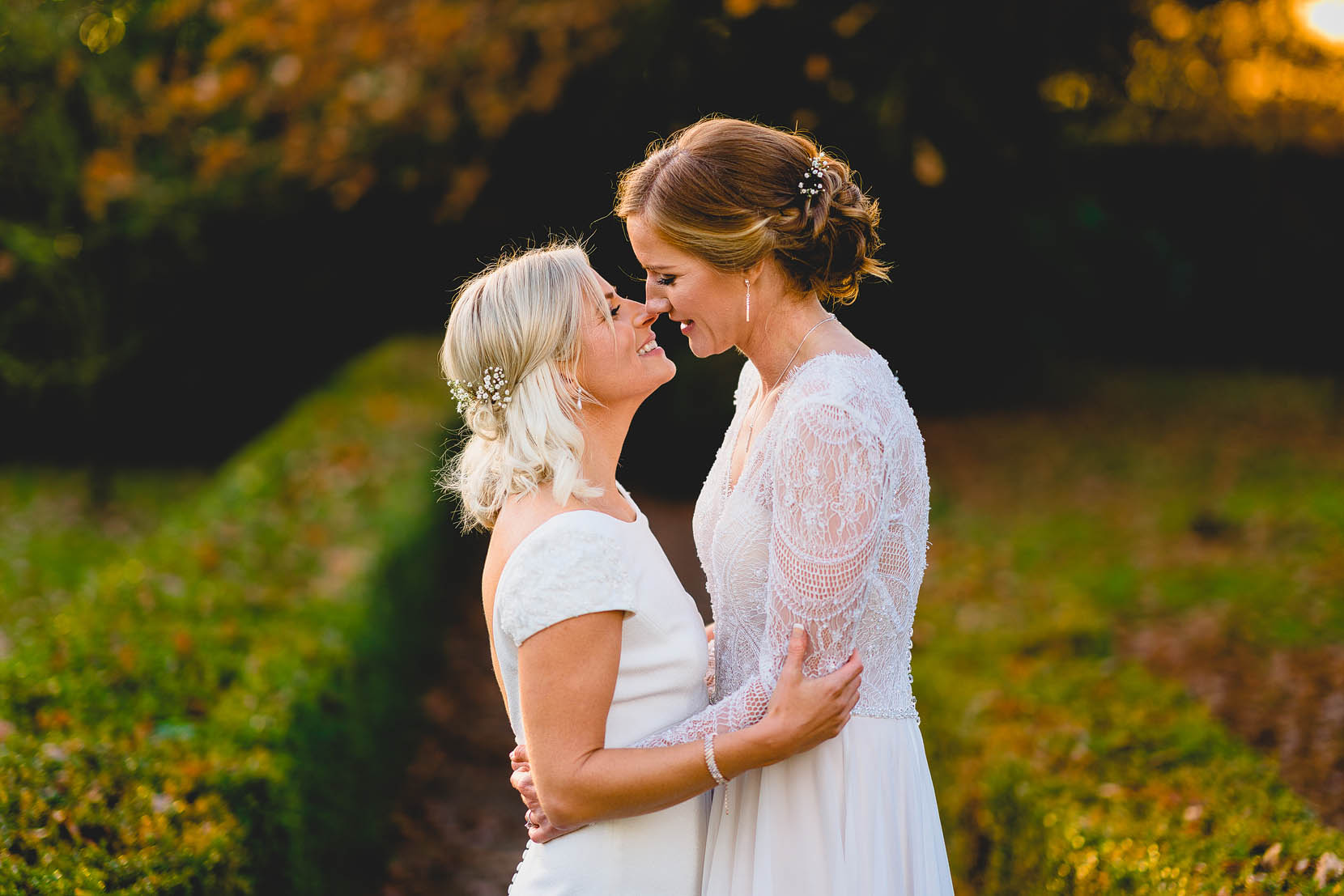vaila and annica share a kiss at their same sex wedding at southwood hall in norfolk